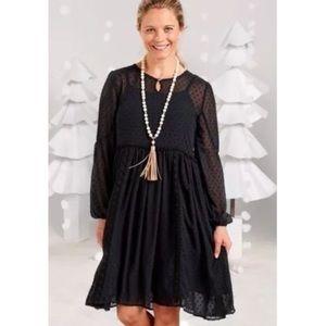 Maltida Jane Black NOSTALGIA Sheer Dot Lace Dress